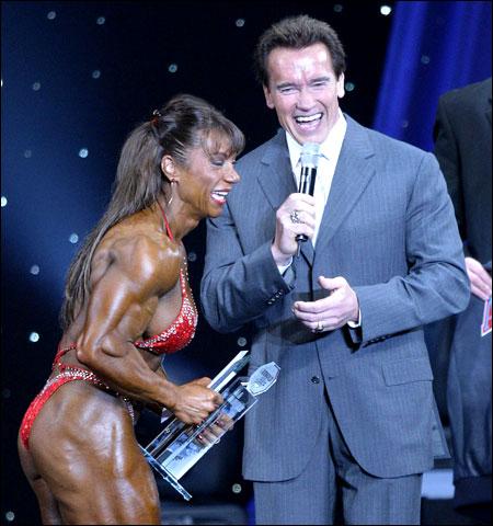 California Gov Arnold Schwarzenegger Right Laughs