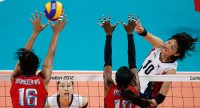 Women's volleyballers beaten by US