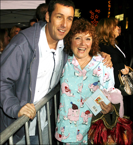 Photo of Adam Sandler & his  Mother  Judith (Levine) Sandler