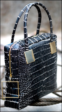 The Sang A River Tote Bag In Zebra Black Alligator Is One Of Most Luxurious Handbags From Collection And Also Priciest At 9 440