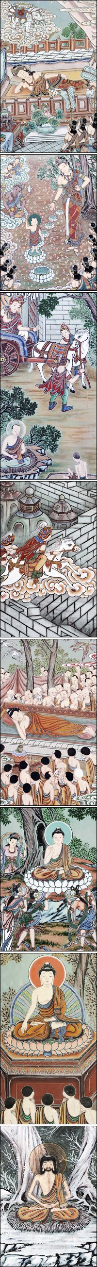 Palsang-do: eight scenes of Buddhas life