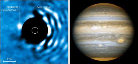 Faint planet larger than Jupiter discovered