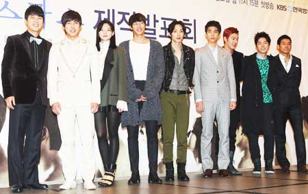 actors of white christmas pose for a photo at a press conference in seoul monday yonhap - Actors In White Christmas