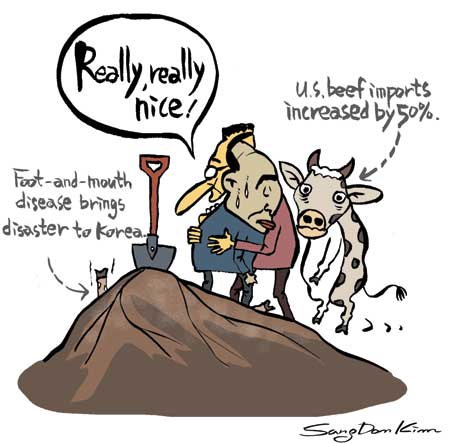 Cartoon Of Mouth Foot And Mouth Disease And Us Beef