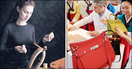 are hermes bags made in china