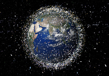 300 pieces of space debris fall a year