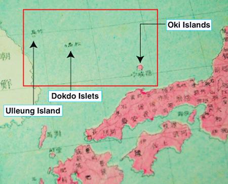 Japan maps show Dokdo was Korean territory