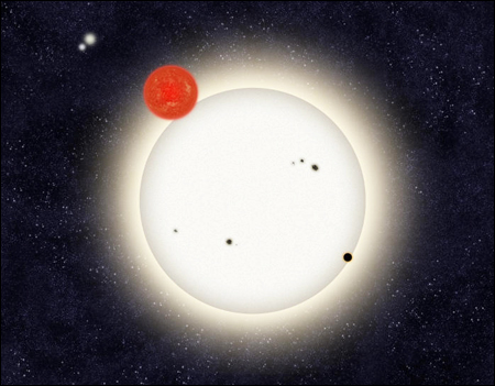 quadruple star system with planets - photo #8