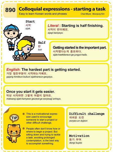 890) Colloquial expressions - starting a task