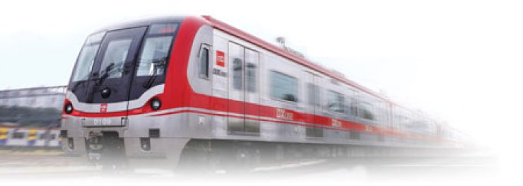 A train on the Shinbundang Line in operation
