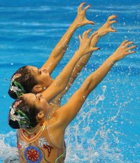 South Korean female synchronized swimmers