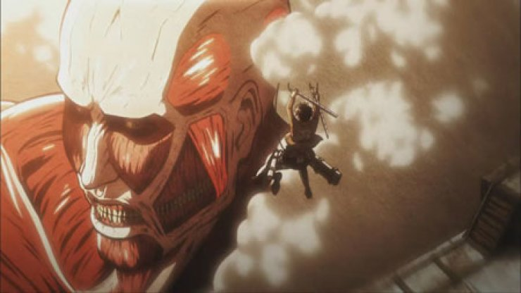 A scene from an animated version of Japanese popular manga series 'Attack on Titan' by Hajime Isayama which is creating a great deal of buzz in Korea./ Courtesy of Aniplus