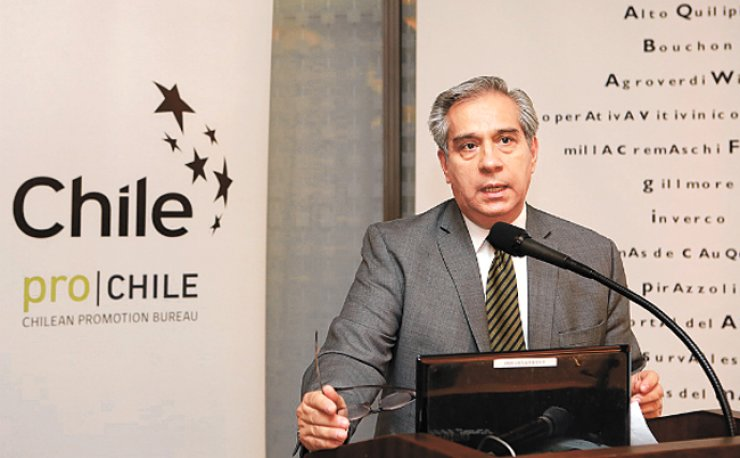 Patricio Parragues, trade commission & agricultural affairs director at the Embassy of Chile, speaks at the the Curico & Maule Wine Tasting event at the Westin Chosun Seoul on June 1. / Courtesy of the Embassy of Chile