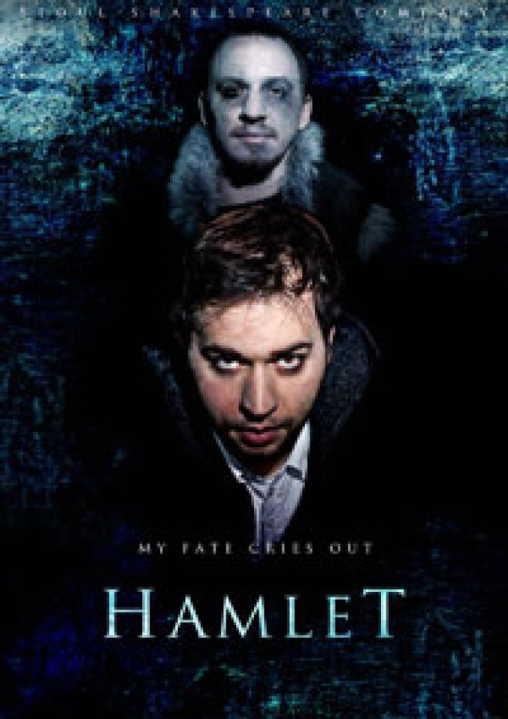 A poster for Seoul Shakespeare Company's 'Hamlet' shows Kyle Johnson (lower) as Hamletand Za'chary Westbrook as the Ghost of old Hamlet.
