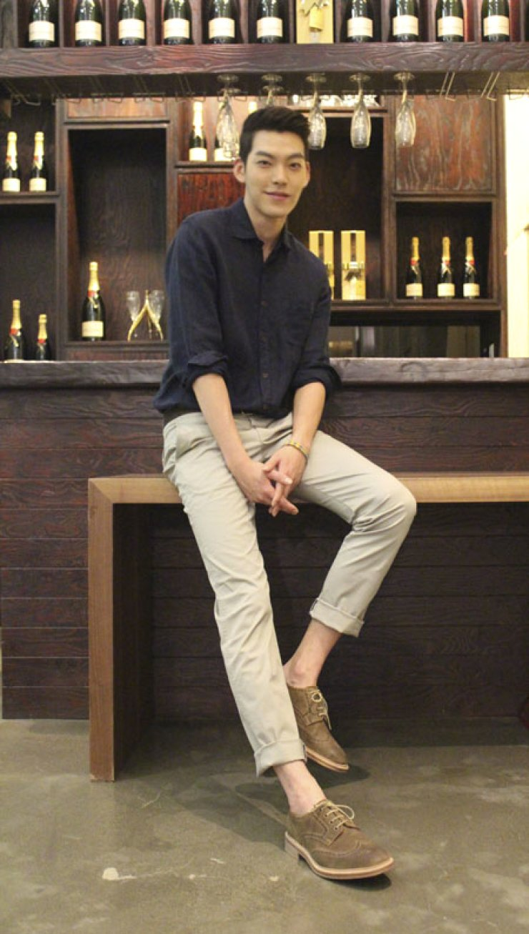 Kim Woo-bin poses in Seongdong-gu, Seoul on Aug. 9. / Korea Times photo by Huh Yoon-jin