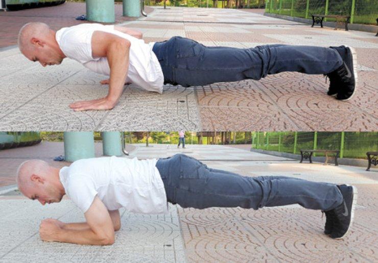 Andrew Dunne demonstrates resistance training exercises. / Courtesy of Andrew Dunne
