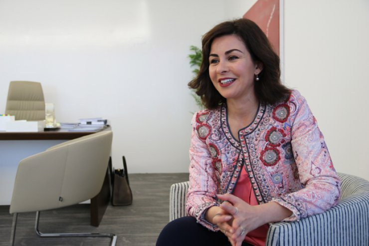 Sheikha Al-Zain Al-Sabah, the undersecretary of the Ministry of State for Youth Affairs of Kuwait, at her office in Kuwait City on April 20 / Korea Times photo by Kang Hyun-kyung