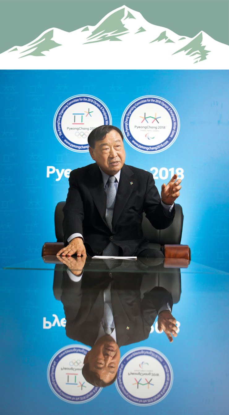 Lee Hee-beom, president of the PyeongChang Organizing Committee for the 2018 Olympic and Paralympic Games (POCOG), speaks during an interview at POCOG's headquarters in central Seoul, June 17. / Korea Times photo by Choi Won-suk