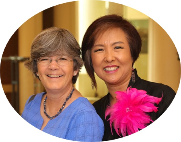 Nancy Kelly, left, president of the Friends of Korea, with Unhui Krieger, a supporter of the group. / Courtesy of Nancy Kelly
