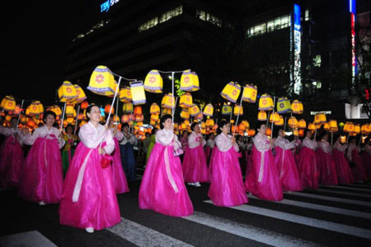 The Lotus Lantern Festival, or 'Yeondeunghoe,' is designated as an Intangible Cultural Heritage.                                                        / Korea Times file