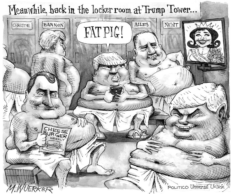 Meanwhile, back in the locker room at Trump Tower