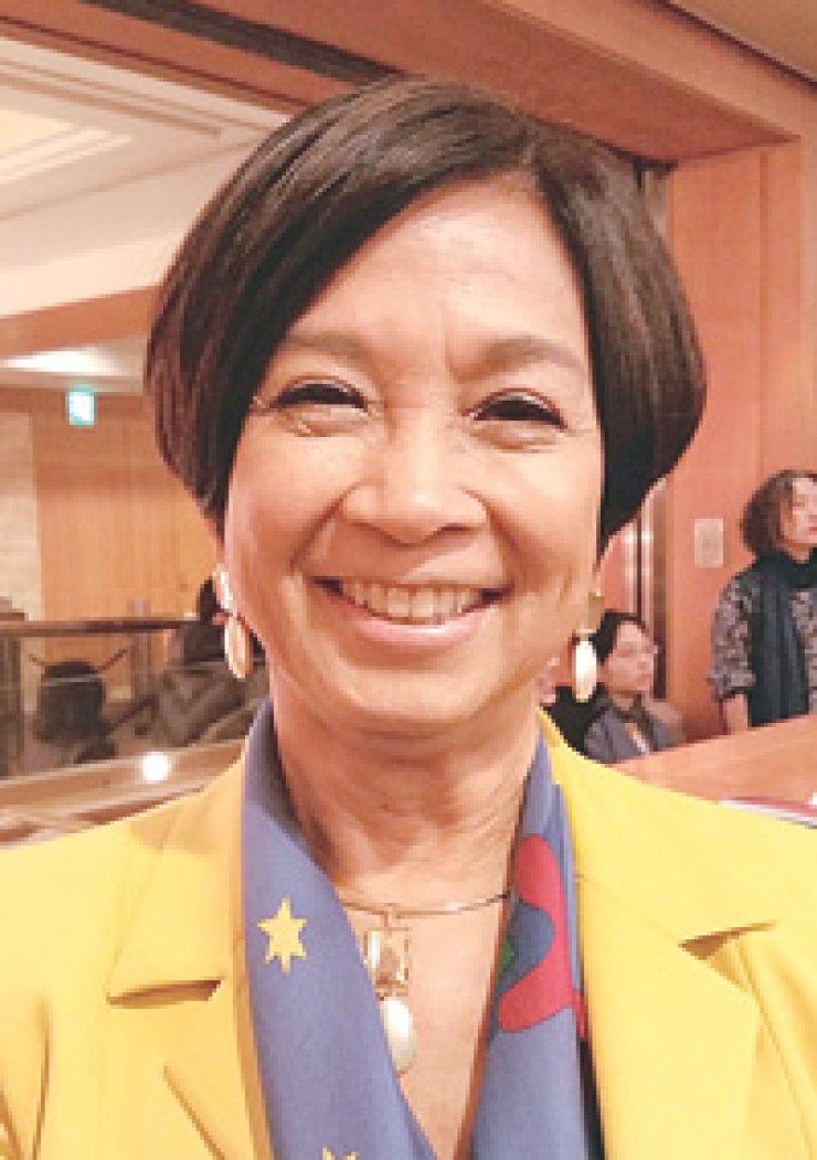 Maria Ligaya Fujita, wife of Brazilian AmbassadorEdmundo Fujita
