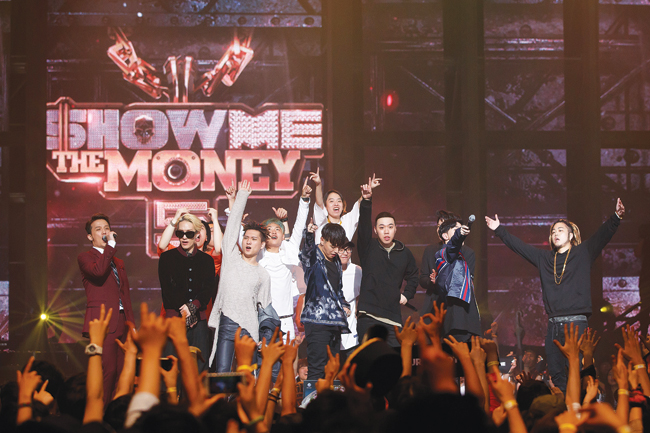 Hip-hop duo The Quiett and Dok2 of Illionare Records perform in season five of Mnet's rap competition series 'Show Me the Money.'