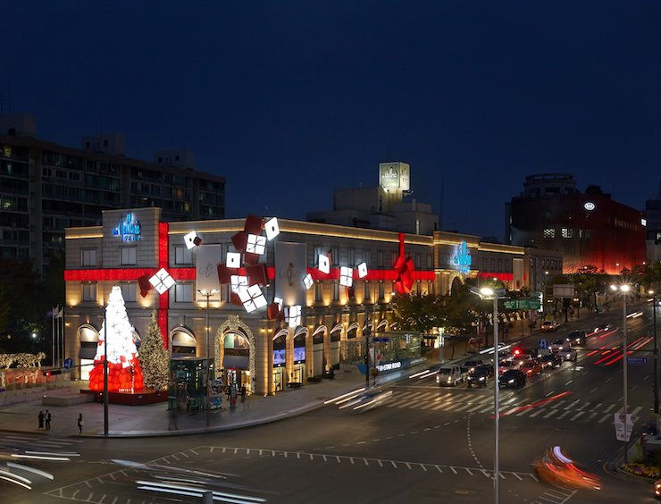 The exterior of Hanwha Galleria department store in Apgujeong-dong, Seoul / Courtesy of Hanwha Galleria