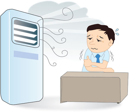 Air Conditioner Sick due to air...