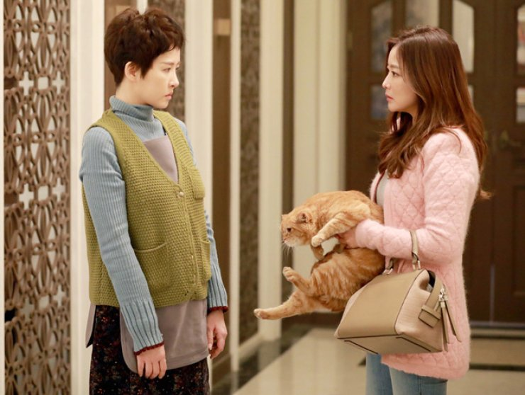 Actresses Kim Sun-ah, left, and Kim Hee-sun  are seen from JTBC drama 'Woman of Dignity' /  Courtesy of JTBC