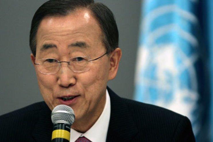 UN Secretary-General Ban Ki-moon speaks during a news conference in Brasilia, Brazil, in this file photo.                                                            / AP-Yonhap