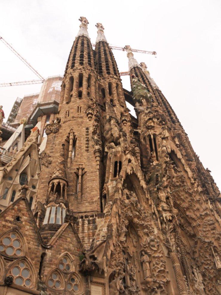 Barcelona's La Sagrada Familia may be unfinished, but it's impressive nonetheless. / Courtesy of Rachel Sang-hee Han