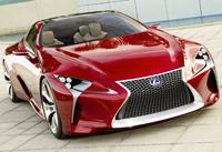 Kia Motors' four-door coupe KND-7Lexus hybrid concept car LF-LC