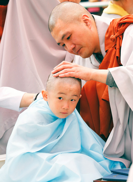 how to become child korean buddhist monk