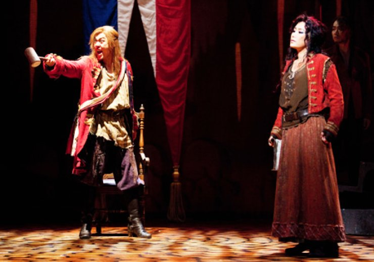 'A Tale of Two Citizens' will be staged through Aug. 11 at the Charlotte Theater in southern Seoul. / Korea Times fileThe musicals involve different historical events surrounding the French Revolution