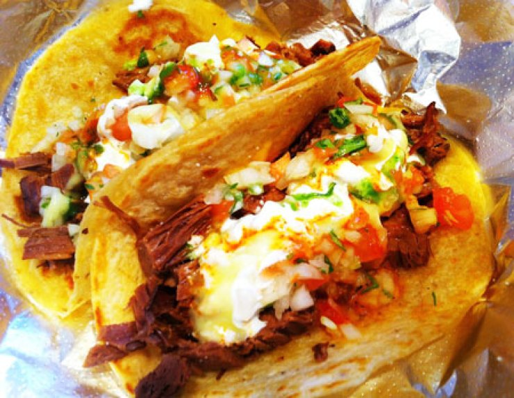 The tacos at Gusto Taco near the Hongdae leisure district in Seoul have been generating a buzz among foodies. / Courtesy of Gusto Taco