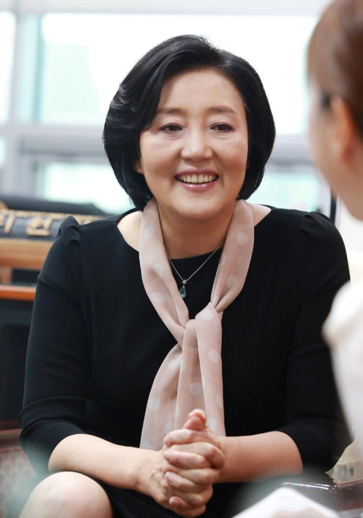 Rep. Park Young-sun of the main opposition Minjoo Party of Korea speaks during an interview with The Korea Times at the National Assembly on May 25. / Courtesy of Park Young-sun's Office