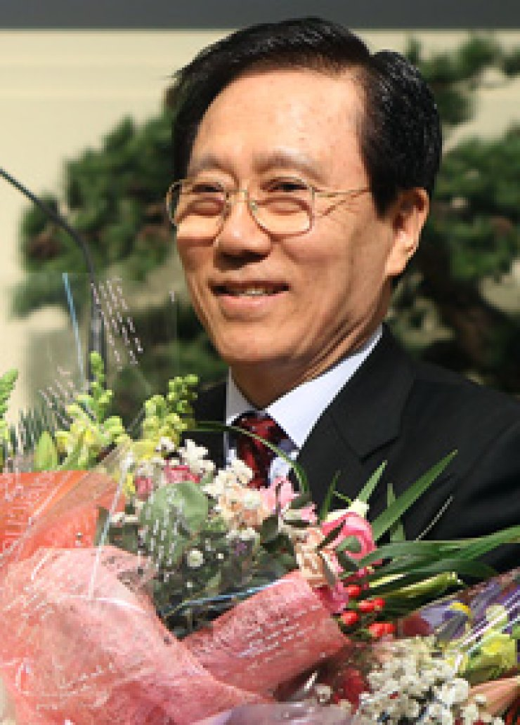 CCK Chairman Hong Jae-chul, seen here in happier times,has been a reliable source of homophobic hatred.