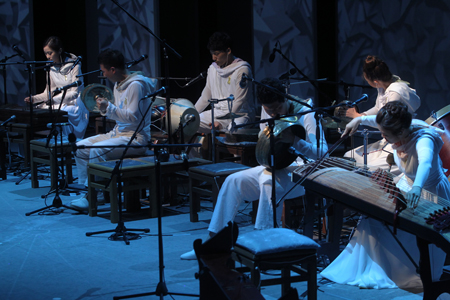 Ensemble Jeong Ga Ak Hoe performs at the Namsangol Hanok Village in downtown Seoul. / Courtesy of Namsangol Hanok Village