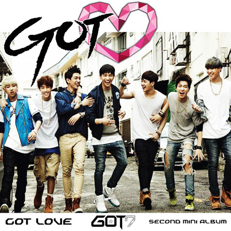 From left, Bam Bam, Mark, leader JB, Jr., Jackson, Yeong-jae and Yu-gyeom, members of the rising K-pop group GOT7 from JYP Entertainment, pose in this file photo. / Korea Times file