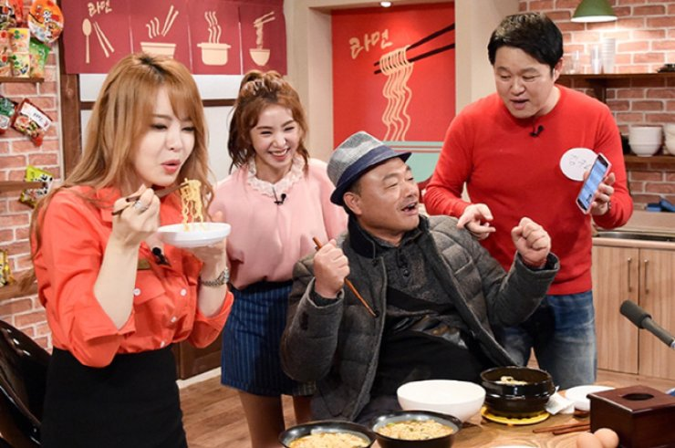 Cao Lu, second from left, on MBC's 'My Little Television' / Courtesy of MBC