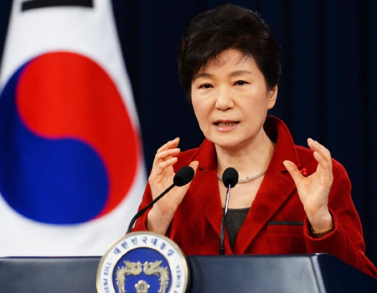 President Park Geun-hye speaks during a New Year press conference at Cheong Wa Dae, Monday. / Korea Times photo by Hong In-ki