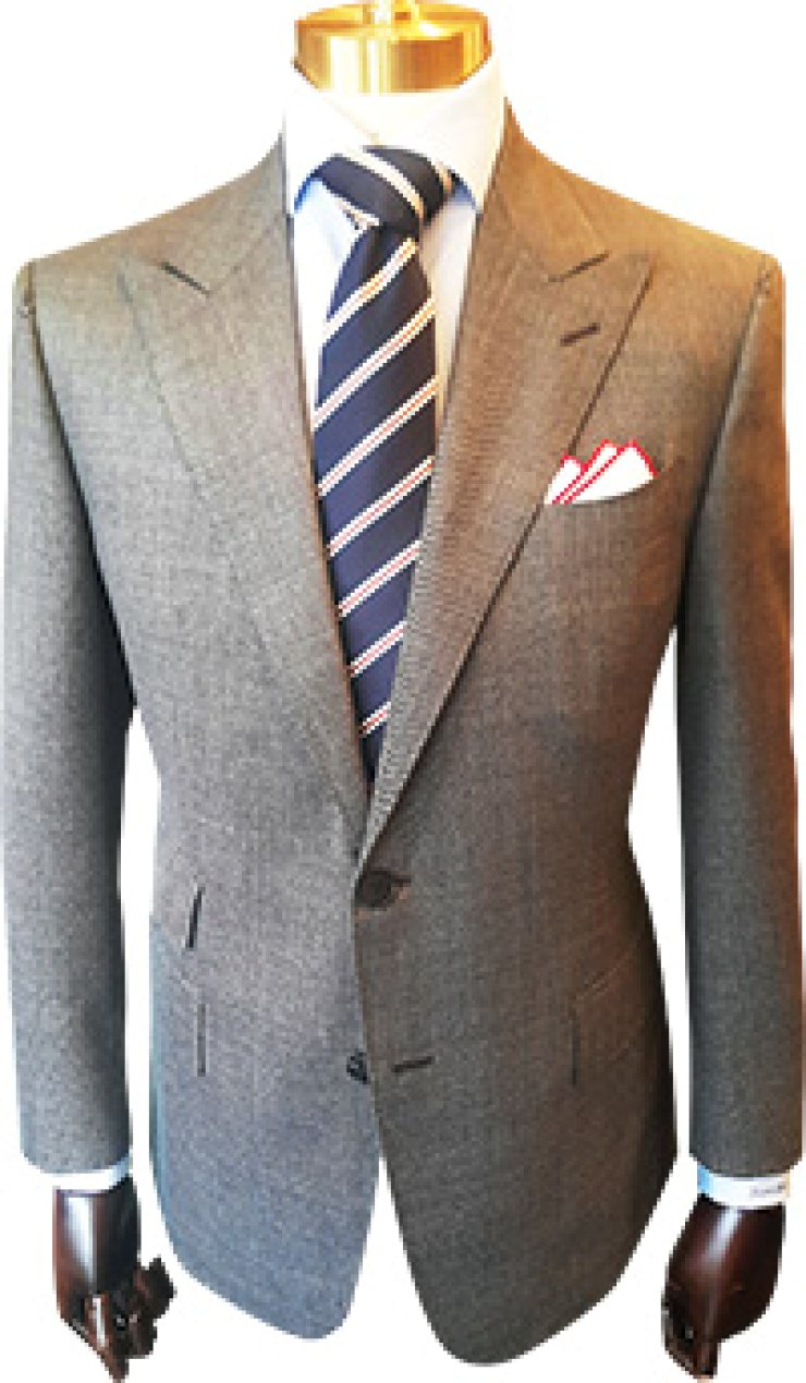 Two-button jacketSix-on-two double-breasted jacket