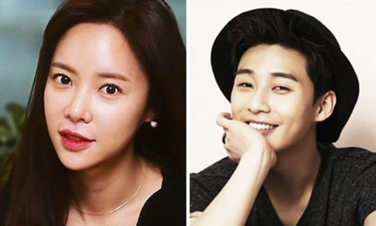 Actors Hwang Jung-eum, left, and Park Seo-joon will star in a new drama, 'She Was Pretty.'