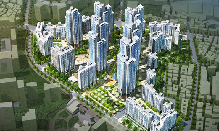 An artist's depiction of the Raemian Gileum Centerpiece to be built by Samsung C&T in Gileum-dong, northern Seoul, in a redevelopment project expected to be completed in February 2019. / Courtesy of Samsung C&T