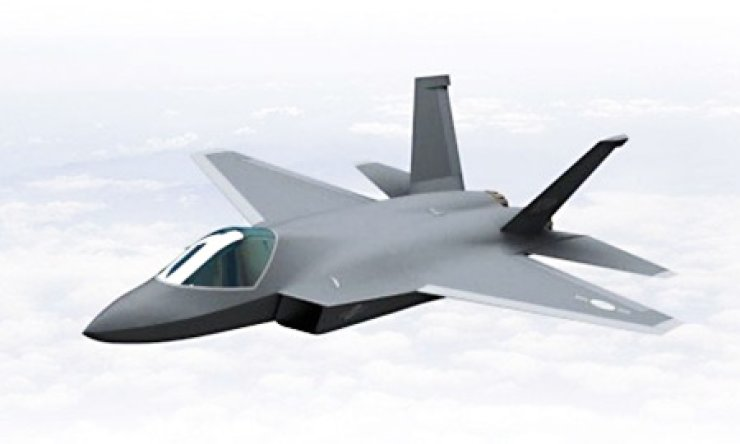 Artist's concept of Korea's indigenous fight jet