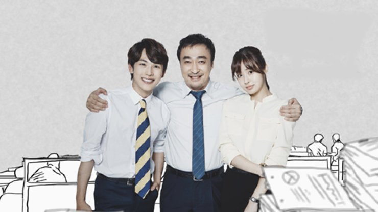From left are actors Im Si-wan and Lee Sung-min and actress Kang So-ra of hit drama 'Misaeng,' which depicts hardships of office life. / Courtesy of tvN