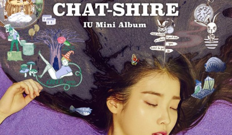 Cover of IU's album 'Chat-shire'  / Korea Times