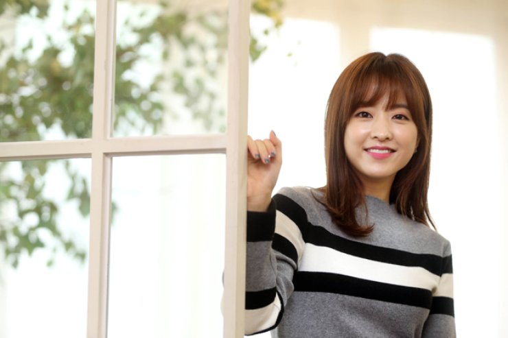 Actress Park Bo-young poses during an interview with The Korea Times at a cafe in Samcheong-dong, central Seoul, on Nov. 13. / Yonhap