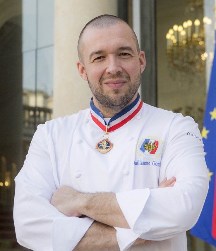 Guillaume Gomez, head chef of the Elysee Palace in France, wears the Meilleur Ouvrier de France(MOF) medal. / Courtesy of So French Delices